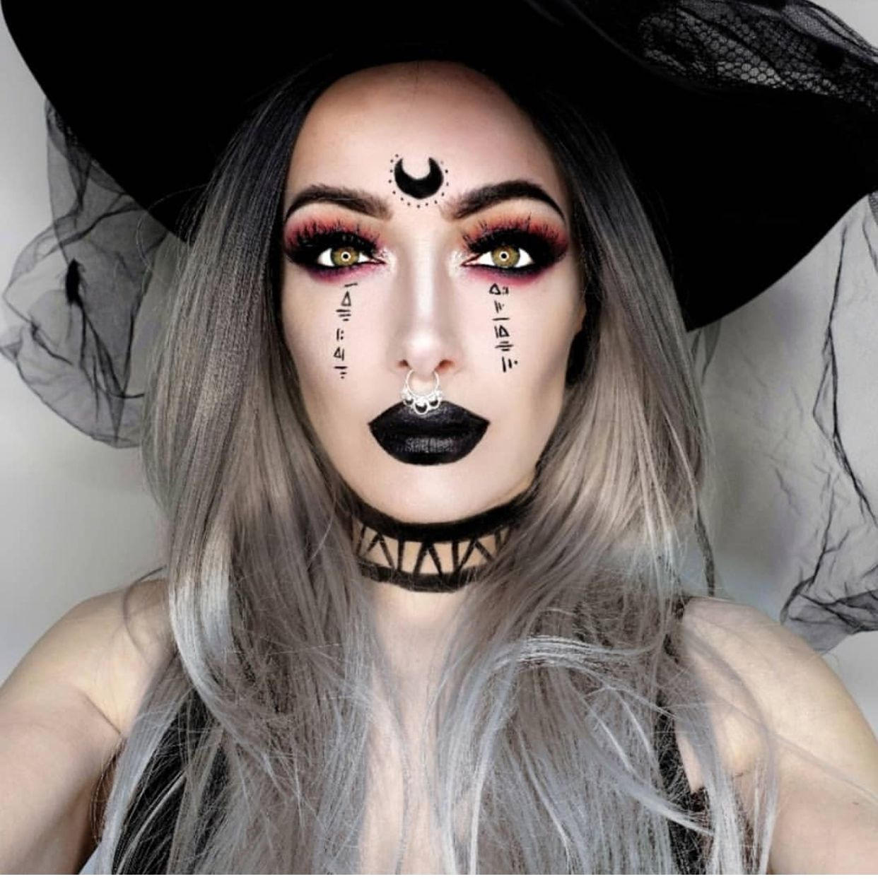 Modern glam witch makeupglam makeup modern witch in