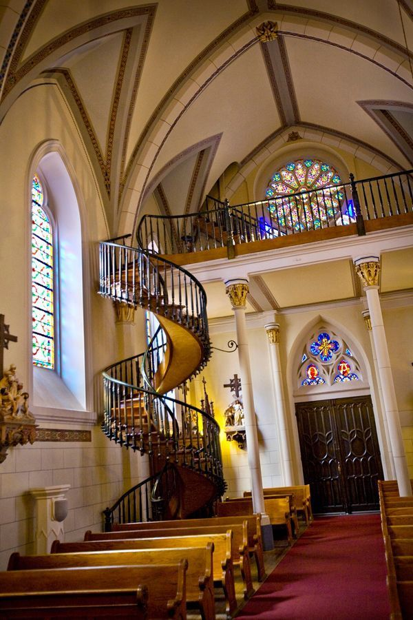 you 39 ll see this gorgeous staircase when you visit santa fe new mexico loretto chapel santa fe. Black Bedroom Furniture Sets. Home Design Ideas