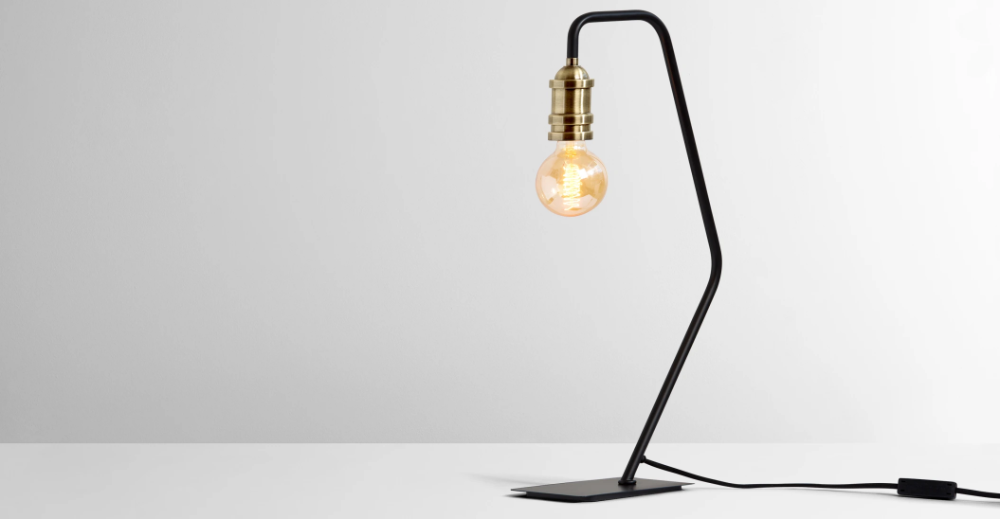 Starkey Table Lamp Black And Brass In 2020 Table Lamp Lamp Black Table Lamps