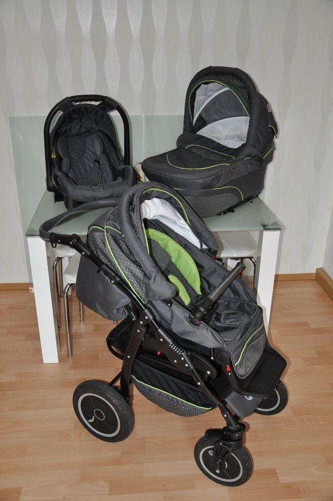 kinderwagen 3 in 1 kombikinderwagen babyschale buggy babywanne faltbar top kombikinderwagen. Black Bedroom Furniture Sets. Home Design Ideas