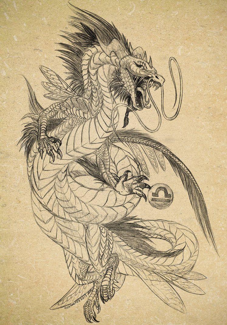 Sketch Of Dragon Tattoo Dragon Sketch Dragon Artwork Eastern