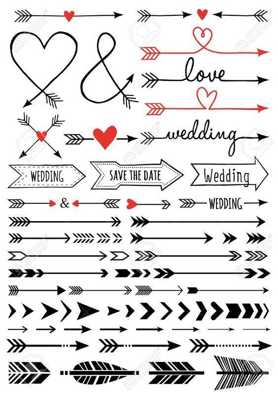 Free Arrow Svg Files Hand Drawn Wedding Bullet Journal Inspiration Hand Lettering