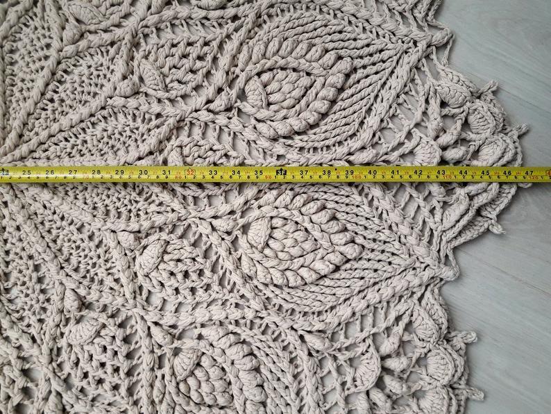 Doily Crochet Rug Round Rug Giant Doily Cottage Chic Rug Crochet Carpet Boho Bedroom Ideas Doily Carpet Crochet Lace Rug Crochet Doily Rug Crochet Carpet Crochet Rug Crochet Rug Patterns