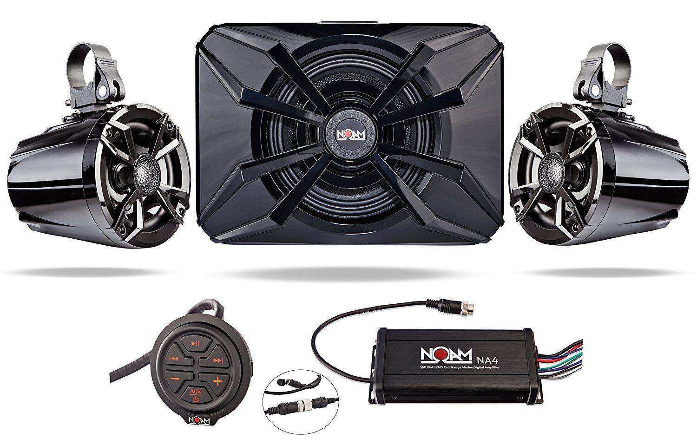 Noam Nutv5 S Atv Utv Waterproof Speakers Bluetooth 21 Marine Jl Audio Amp Wiring Kit Marinerated Stereo System