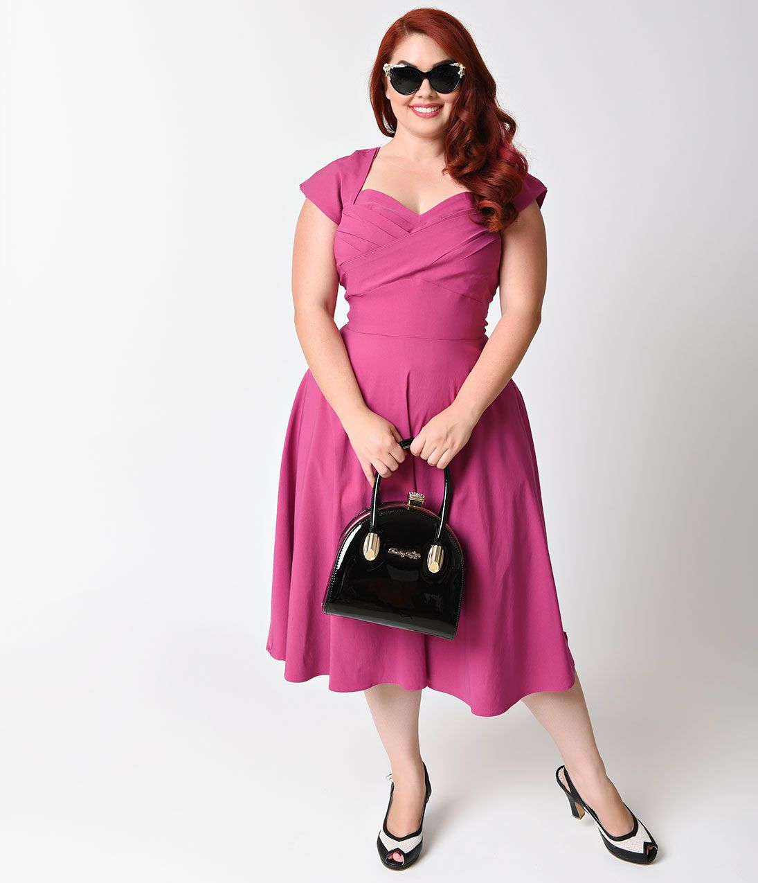 Plus Size Vintage Dresses, Plus Size Retro Dresses | Swings, Cap and ...