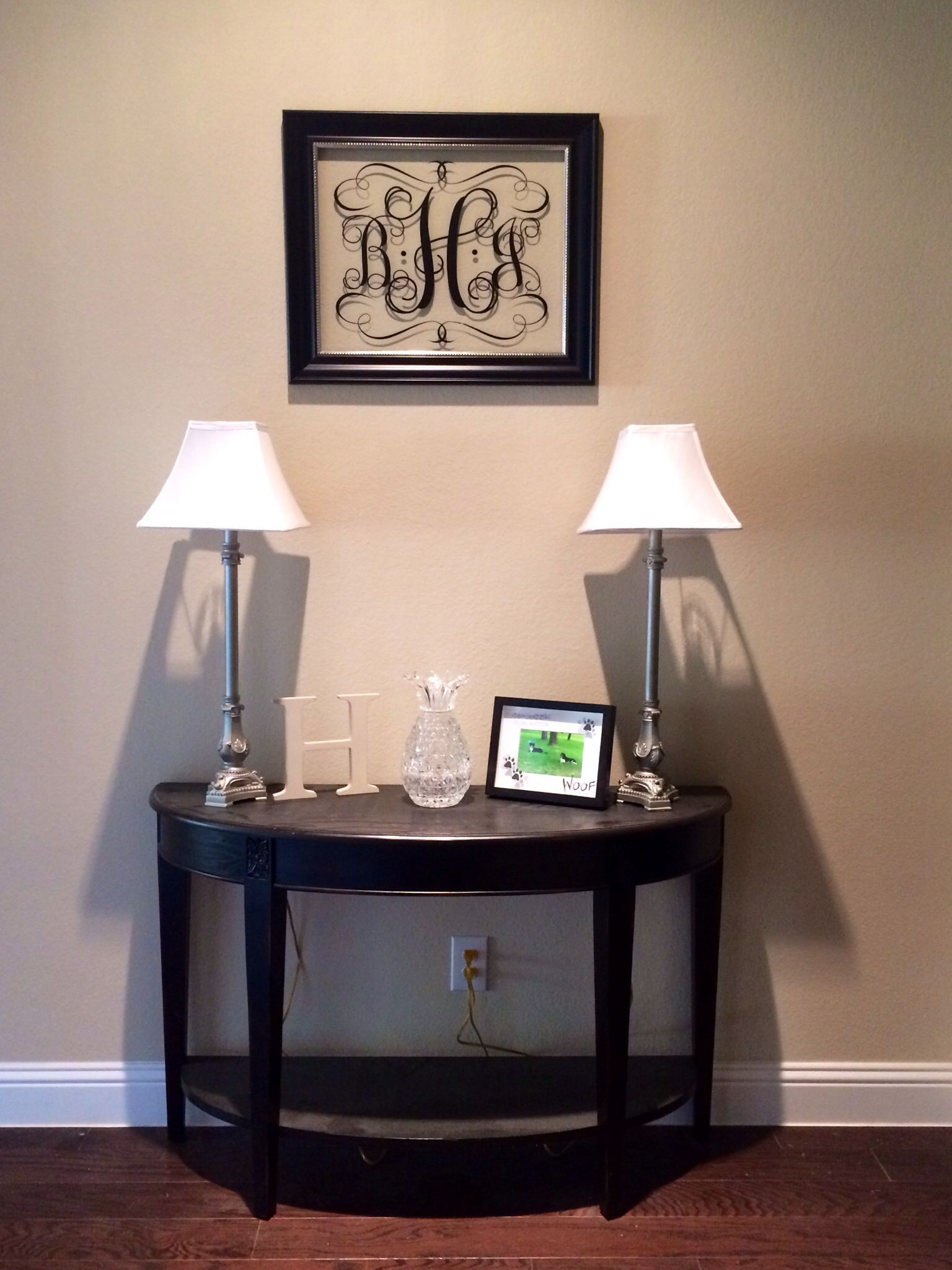 Entryway Table And Frame From Hobby Lobby Decal From