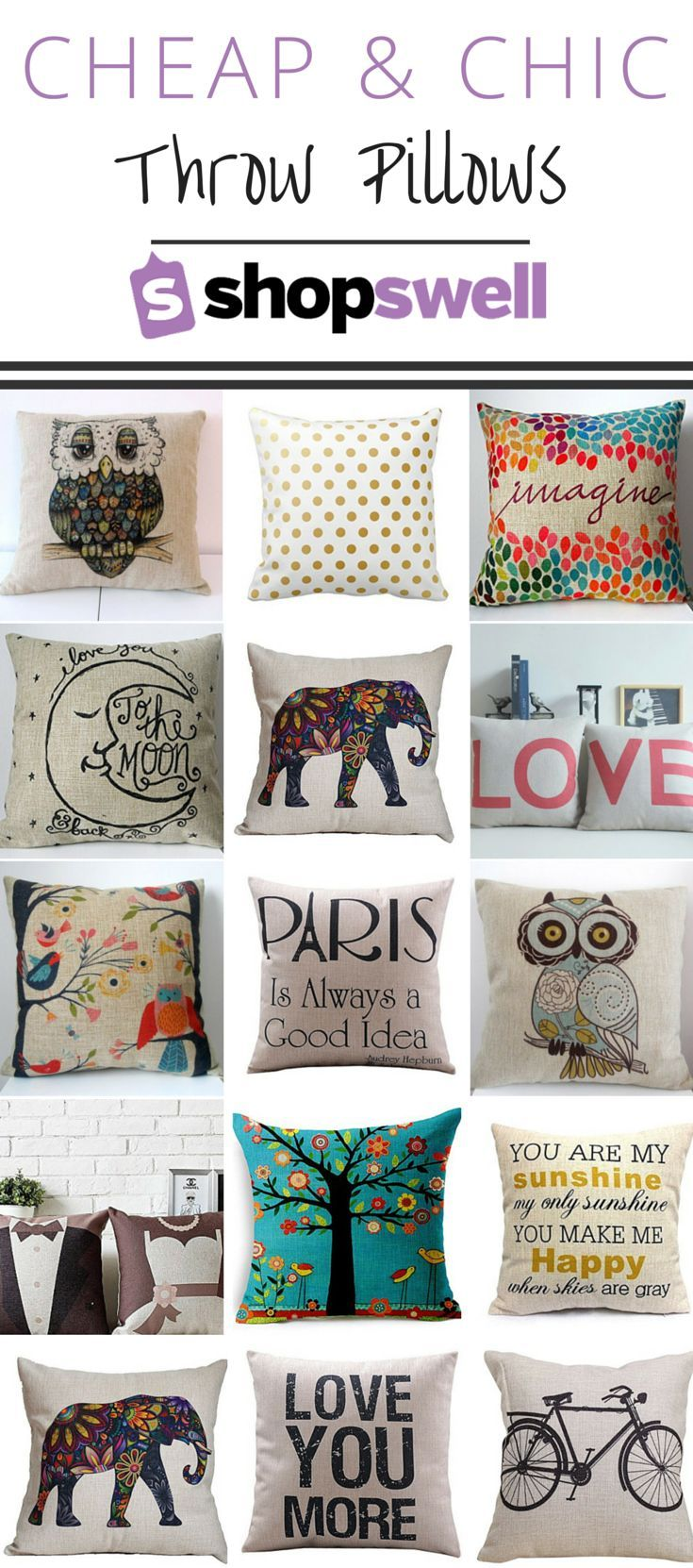 chic fabulous and cheap throw pillows my room home rh pinterest com
