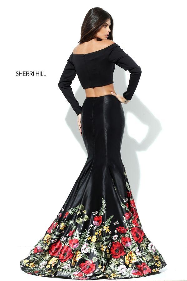 23608c183e9 Sherri Hill 50770 Floral Prom Dresses, Prom Dresses With Sleeves, Homecoming  Dresses, Sherri