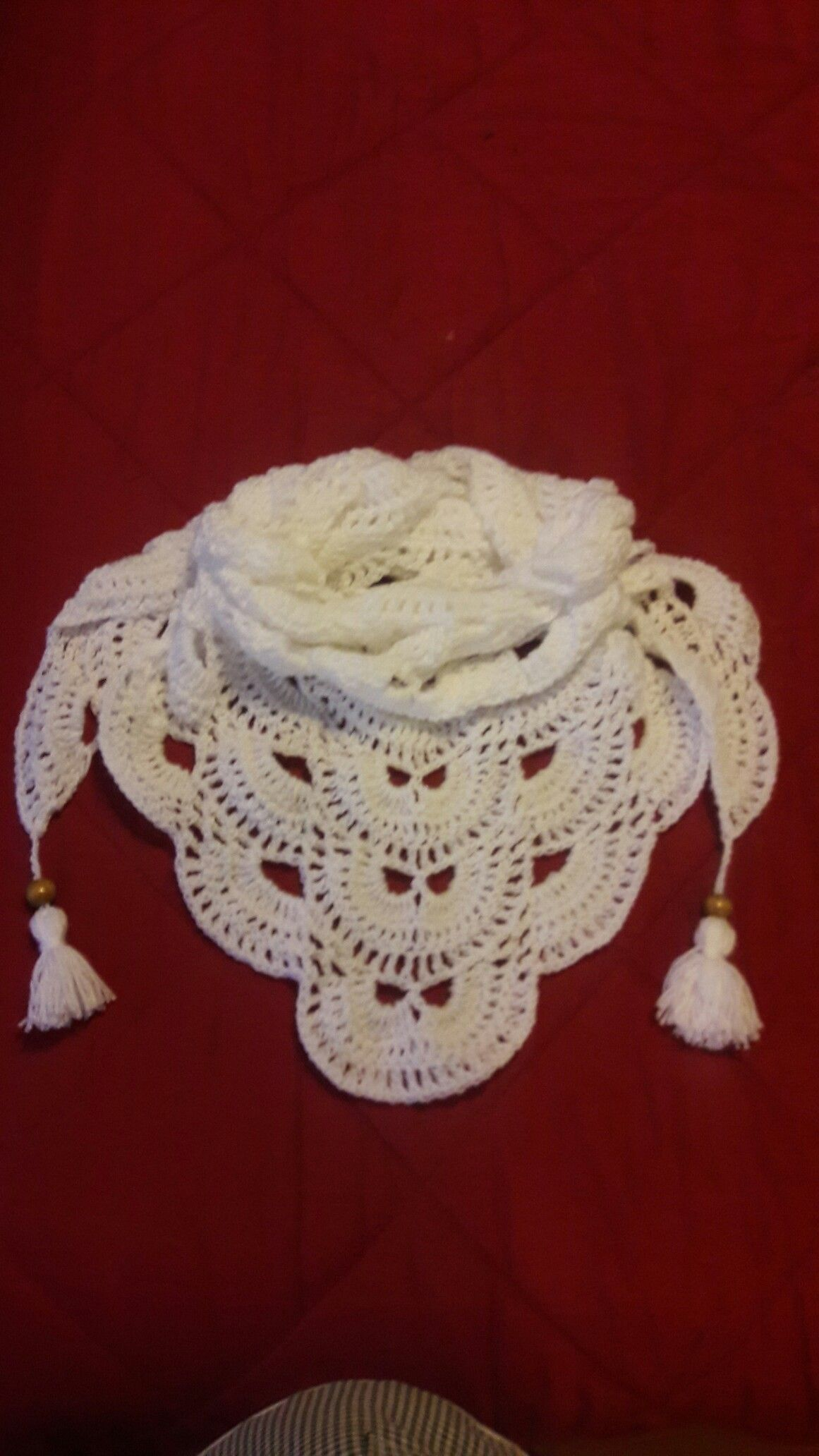 Pañuelo tejido a crochet | Chalinas bufandas cuellos gorros ...