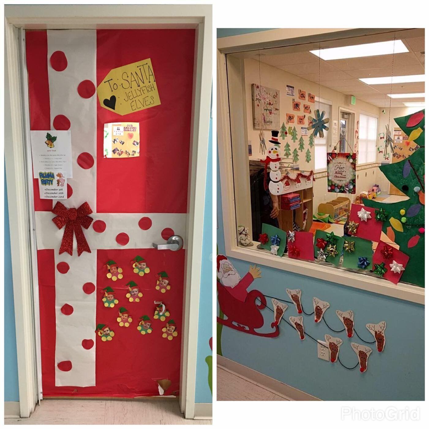 Santa s t elves door decorations Christmas school door