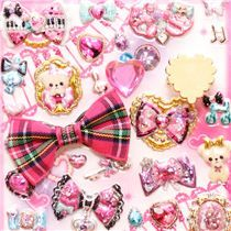 teddy bear  fingernail glitter stickers with ring Japan - Sticker Sheets - Sticker - Stationery