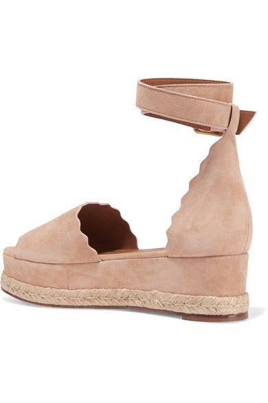 bc641c99ce7 Chloé - Lauren Suede Espadrille Platform Sandals - IT