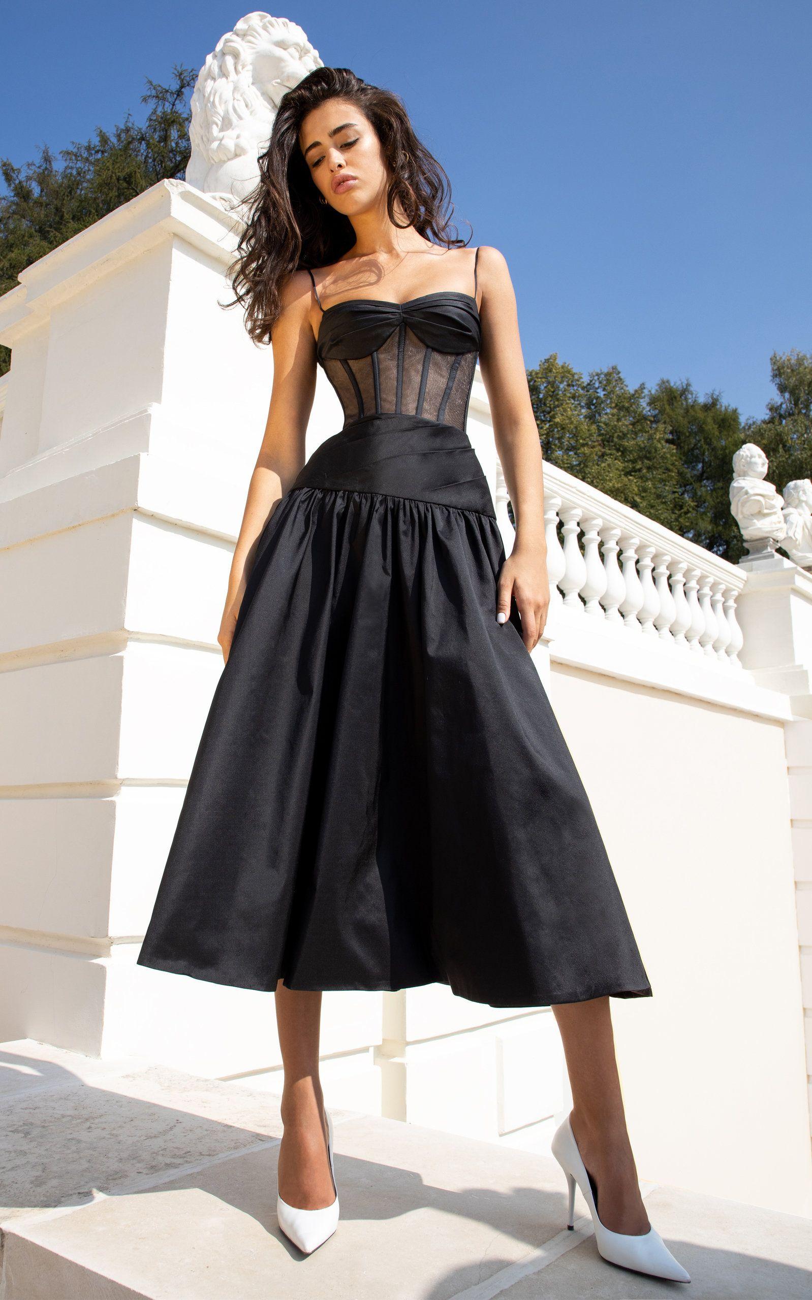 Rasario Pleated Silk Blend Corset Dress Corset Midi Dress Corset Dress Corset Dress Prom [ 2560 x 1598 Pixel ]