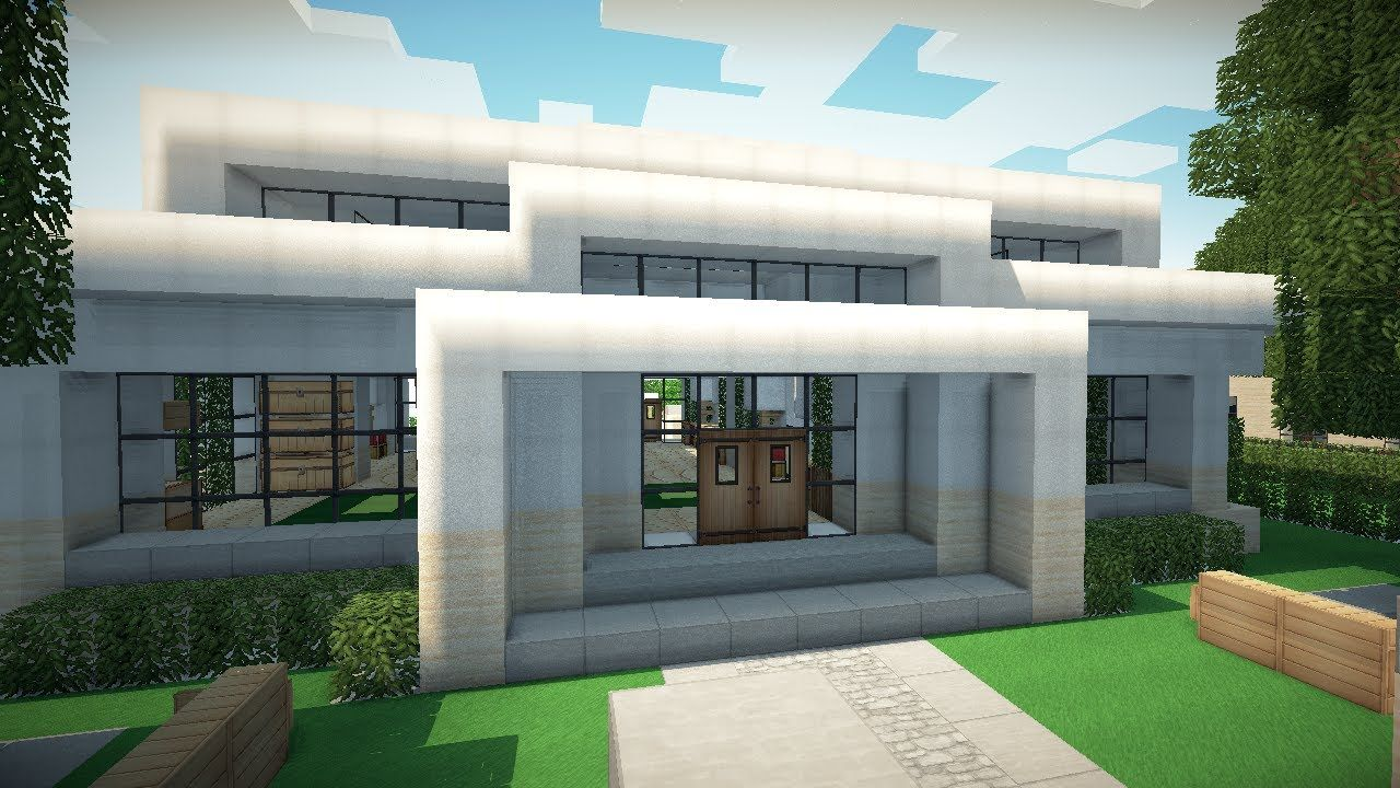 Minecraft Modern House Google Search Minecraft Modern Modern Minecraft Houses Minecraft Modern House Blueprints