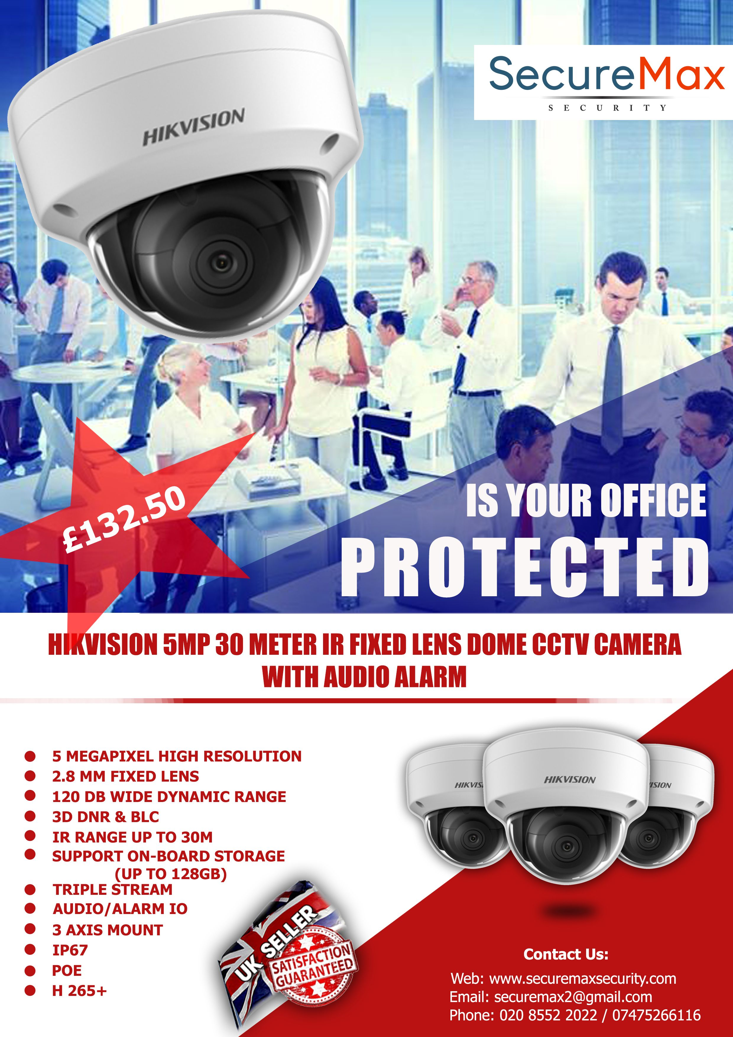 Hikvision 5 Megapixel Dome Cctv Camera With Audio Alarm Cctv Camera Security Camera Installation Cctv Surveillance