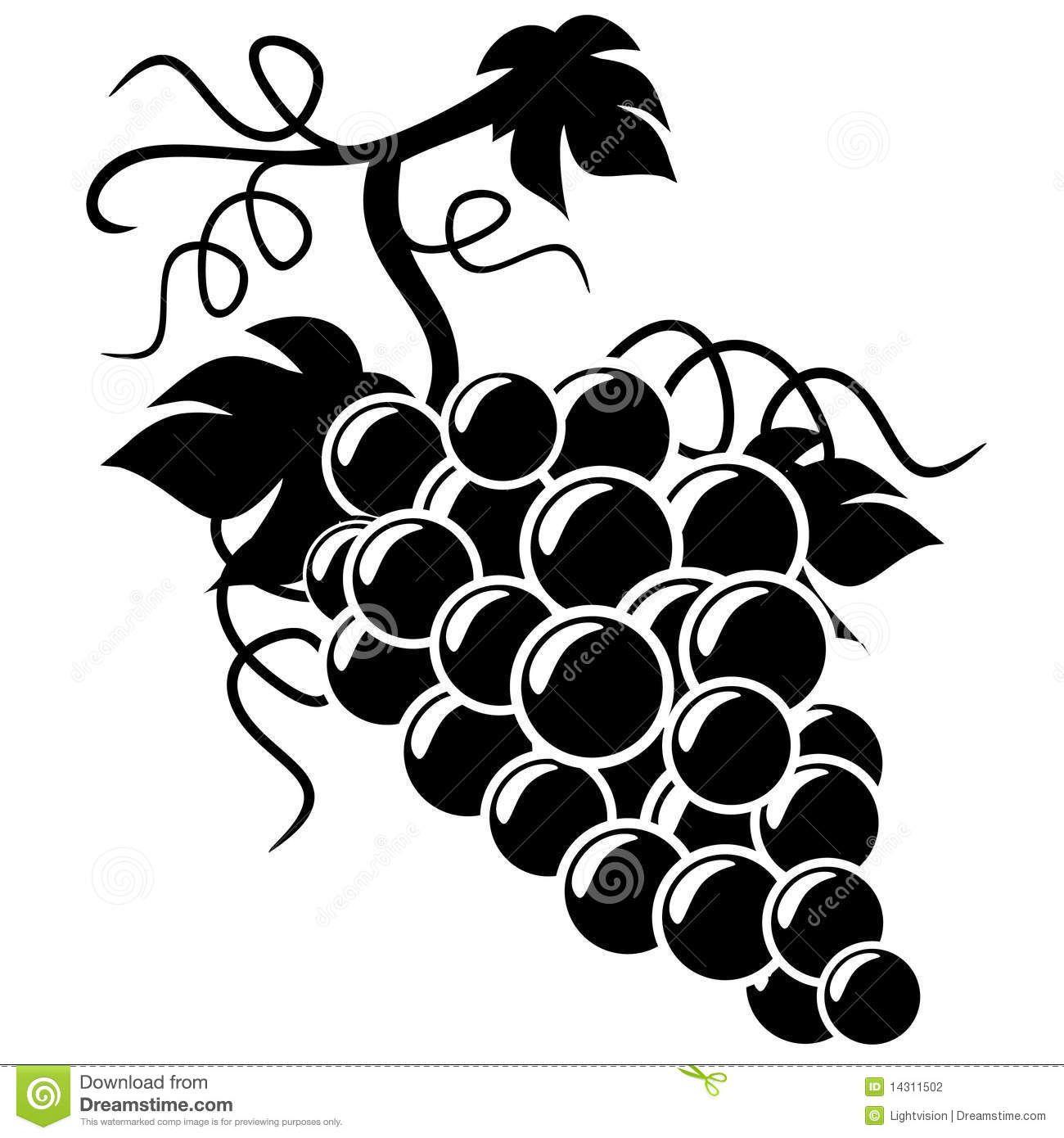 grapes silhouette Google Search Silhouette art, Art