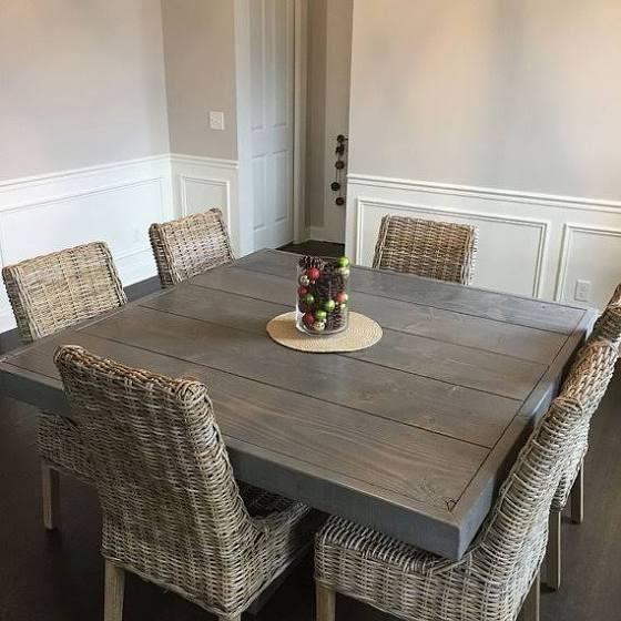 Large Square Dining Table Seats 8 Square Dining Room Table