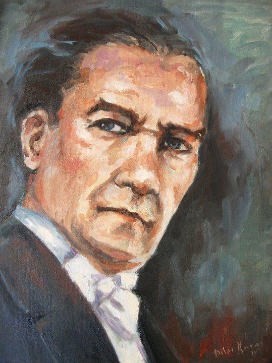 Gazi Mustafa Kemal Ataturk Yagli Boya Resimler Diler Yavas Painting Resim Tablolar