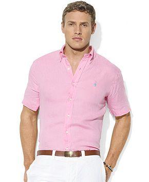 ac3131c22392 Polo Ralph Lauren Custom-Fit Linen Sport Shirt - Casual Button-Down Shirts  - Men - Macy's