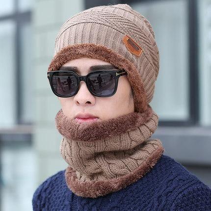 37ed354700d 2018 new autumn winter knit plush thick warm men women beanie+scarf sets  boys girls wear cap collars adult accessories hats