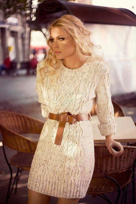 To How Wear Simple Style Sweater A DressWomen's FashionKnit WDE2H9IY