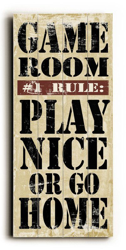 Game Room Rules Wall Décor images