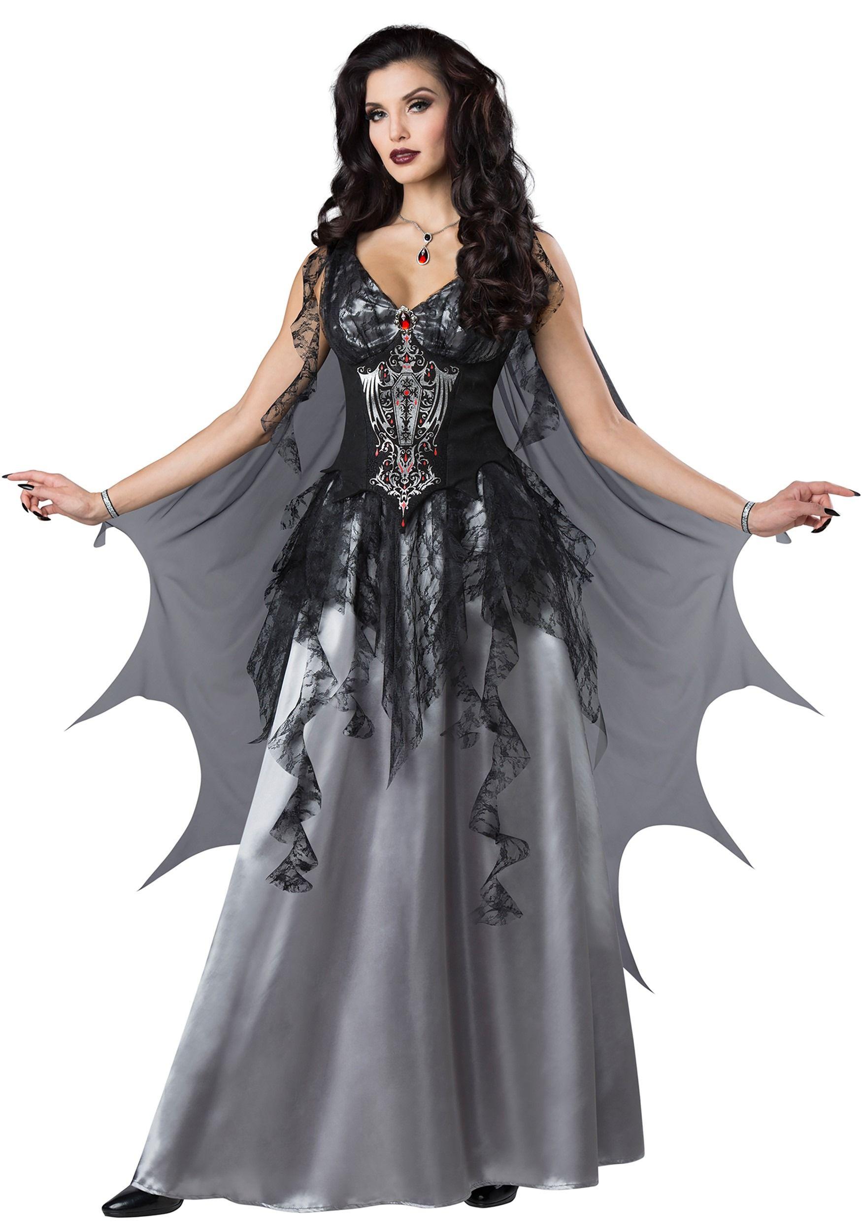 Women's Dark Vampire Countess Costume - FOREVER HALLOWEEN ...