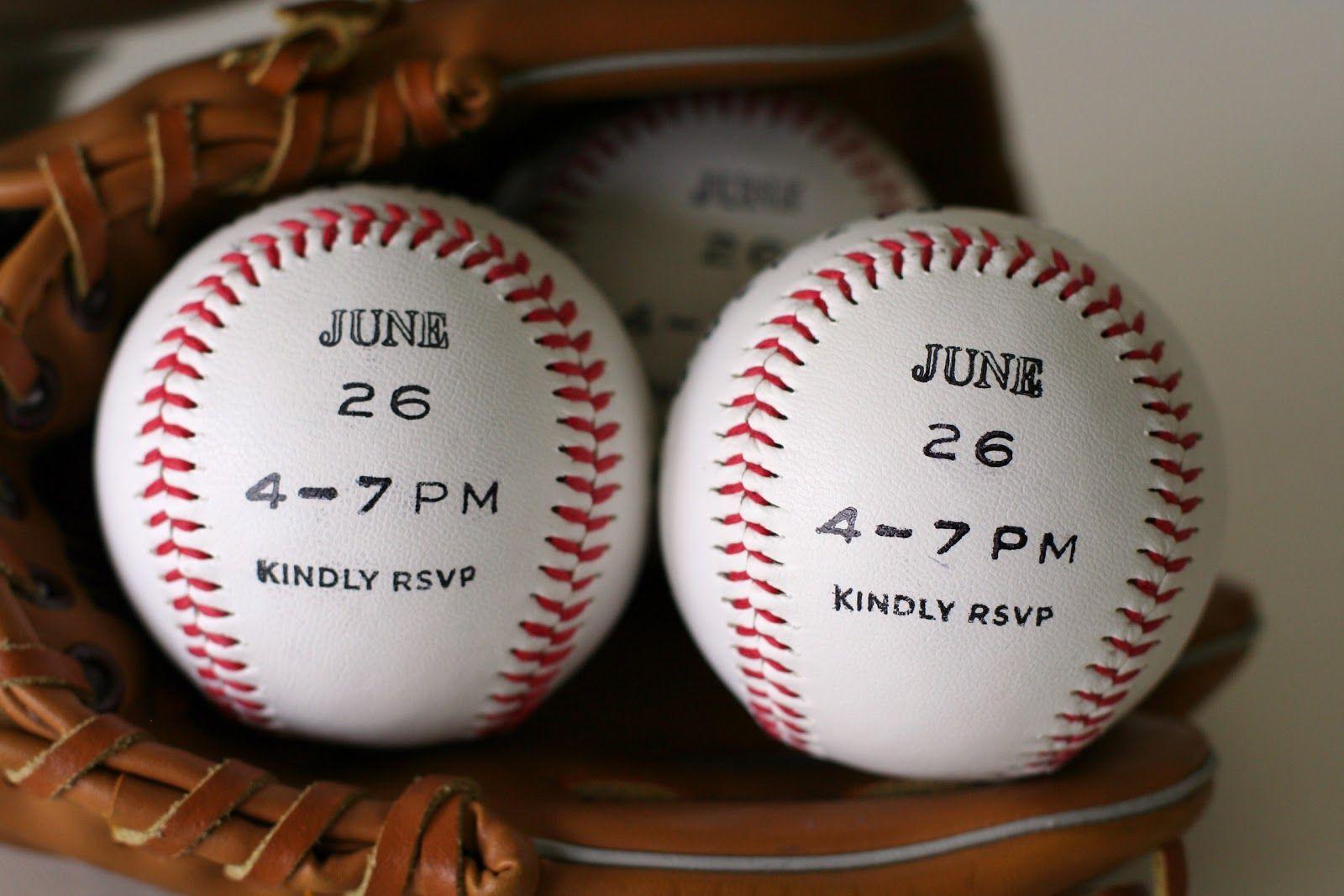 baseball invites