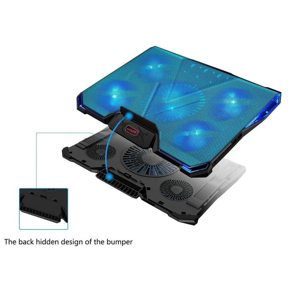 Gaming Cooling Pad 5 Fan Speed Multi Angle Adjustable Stand Mat Fits Up To 17 Mystery With Images Fan Speed