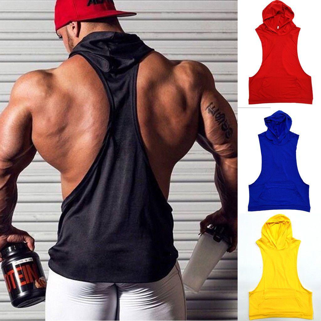 8c8cd880c Details about US $6.99 Hot Men Gym Clothing Bodybuilding Stringer Hoodie  Tank Top Muscle hooded Shirt - #Luxury #Men's #Slim #Fit #Shirt #Short  #Sleeve ...