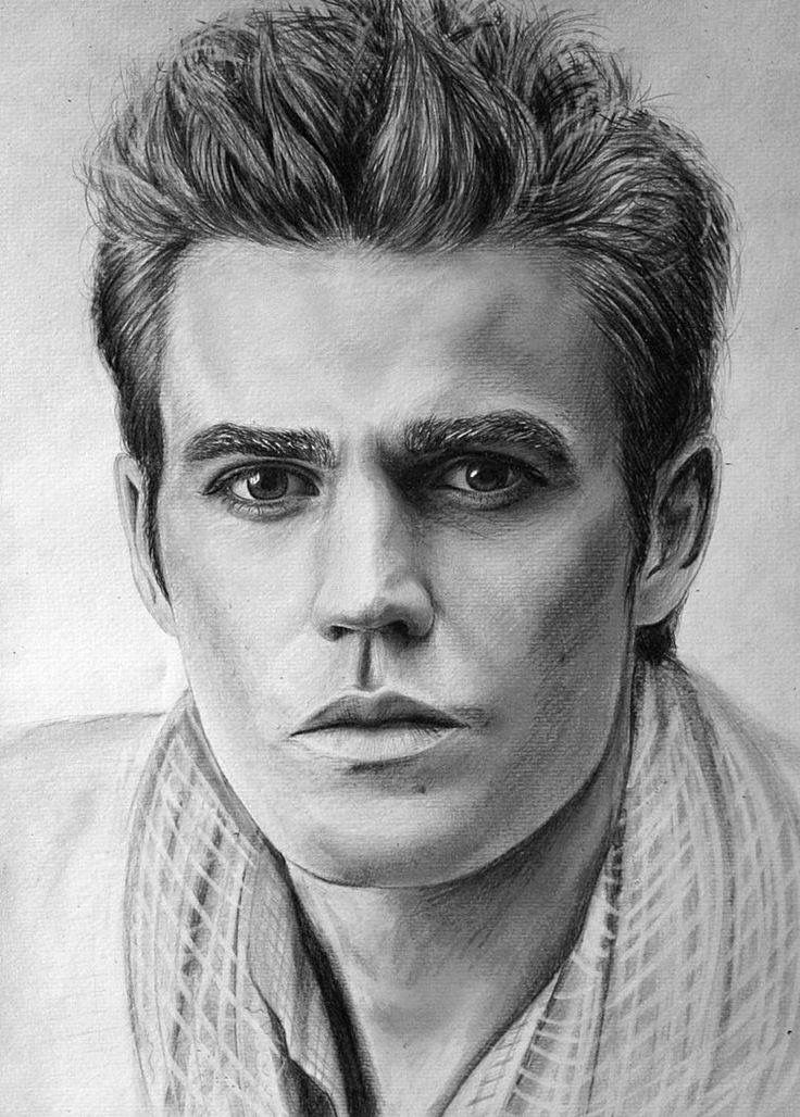 Красивые мужчины картинки карандашом