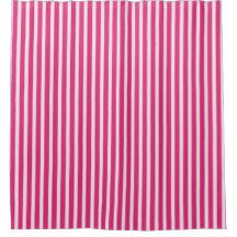 Candy Cane StripescCherry Red White Everyday Shower Curtain