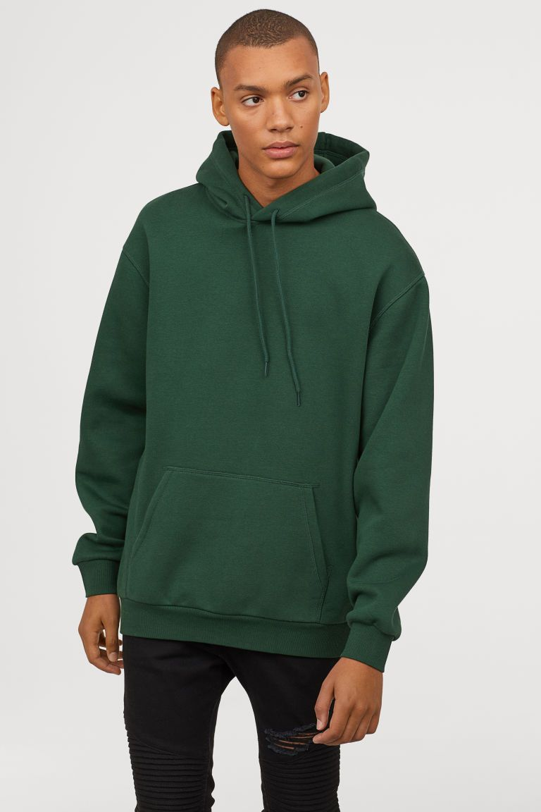 Hoodie Dark Green Men H M Us Green Hoodie Outfit Hoodie Outfit Men Dark Green Hoodie [ 1152 x 768 Pixel ]