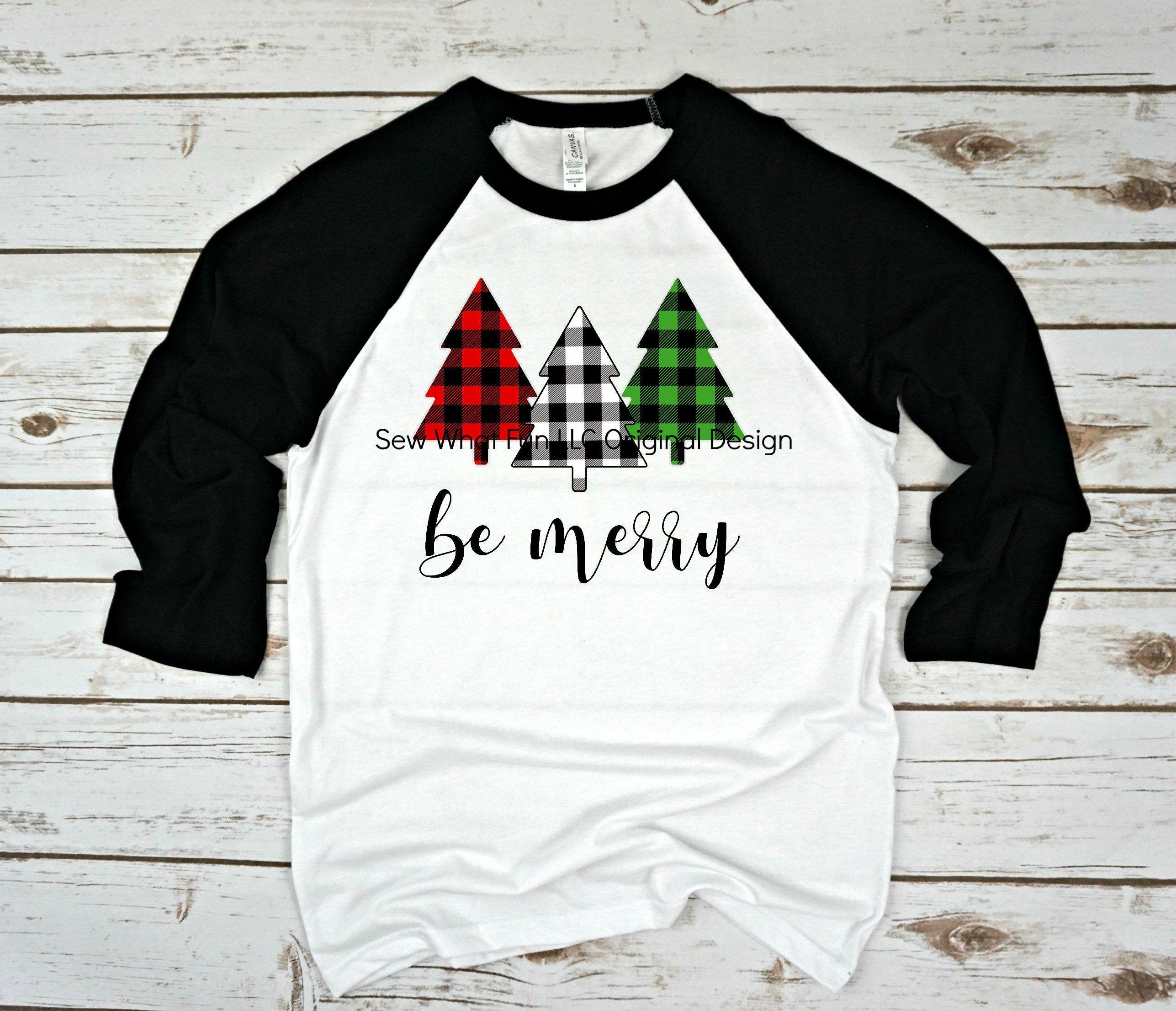 Christmas t-shirt, Womens Christmas raglan, Christmas shirt, raglan, t shirt, womens, women's shirt, Christmas, plaid, womens raglan,women