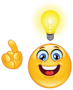 emoticon having an idea sticker