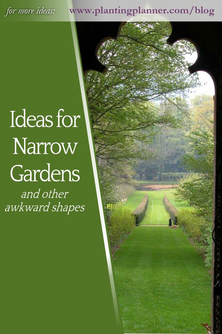 Ideas for Narrow Gardens is part of Narrow garden, Garden design software, Easy garden, Narrow, Small gardens, Garden -  The Weatherstaff Team May 8, 2018 May 8, 2018