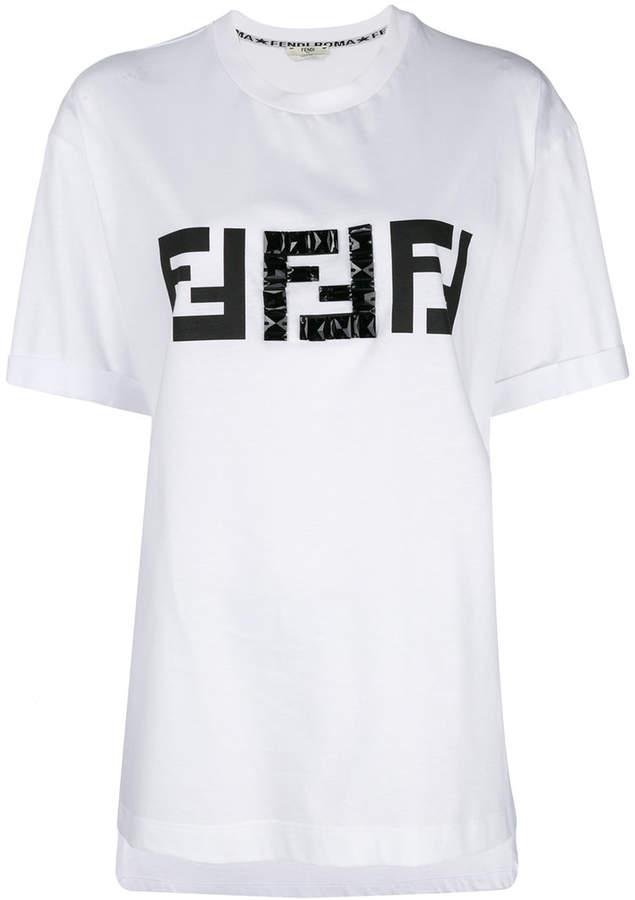 aea69369f89eb2 Fendi embellished FF logo T-shirt