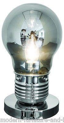Giant Grey Light Bulb Shaped Table Lamp Modern Light Bulb Shaped