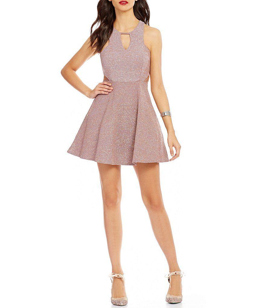 409ea6d63c5 Dear Moon Glitter-Knit Skater Dress