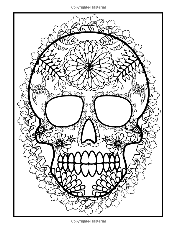 Coloring Books For Grown-Ups: Dia De Los Muertos: Sugar Skulls ...