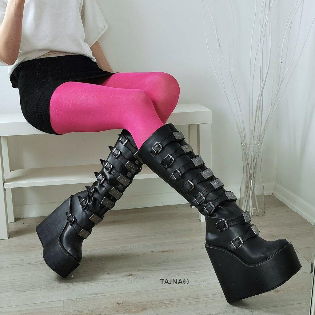 Rocker Multi Belted Platform Boots
