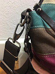 564f5635586b0 Eshow Borsa da Donna alla Moda Vintage Retro di Tela Canvas da Viaggio per  Uso Quotidiano Borsa Multicolore a Mano per Lavoro Multifunzionale ...