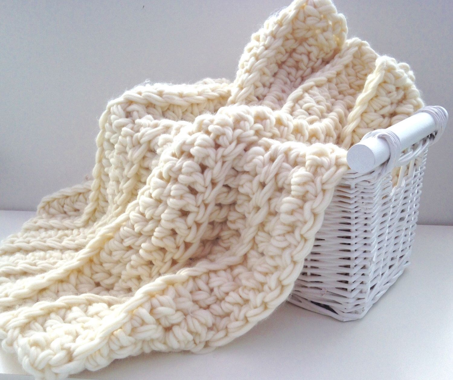 Chunky Baby Blanket. Summer Sale. Crochet Blanket, Extreme knitting ...