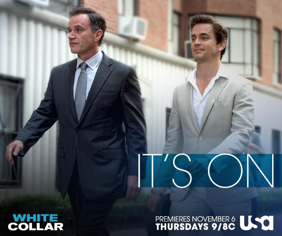 White Collar ‏@WhiteCollarUSA  The con is on. White Collar. The Final Season. Premieres TONIGHT at 9/8c on USA.