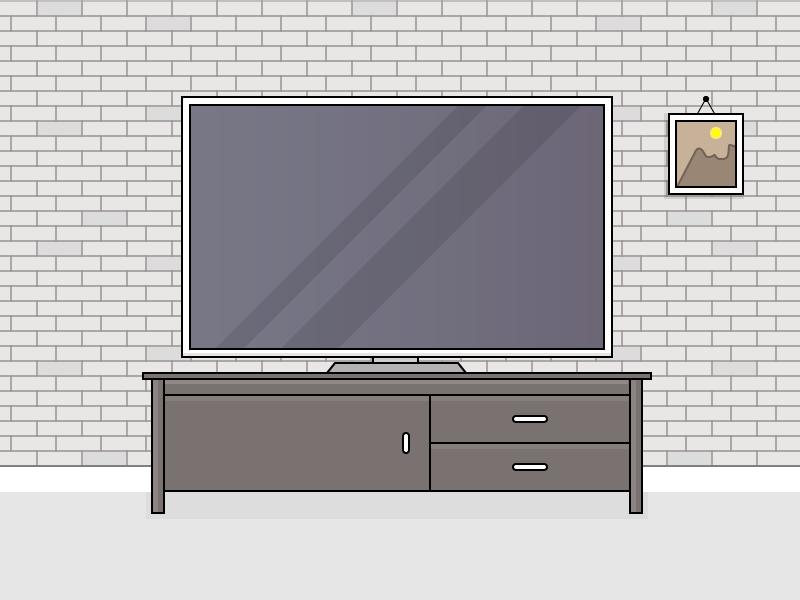 TV + Stand Illustration
