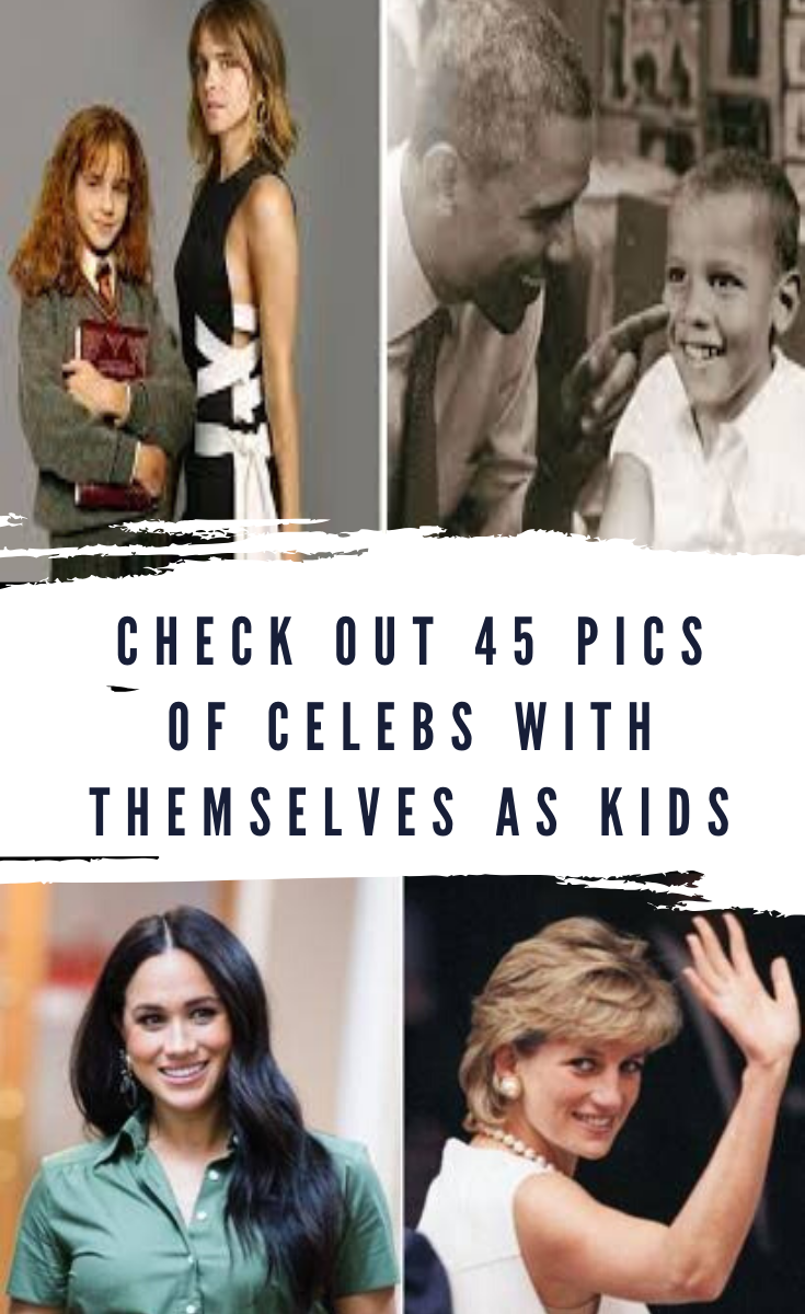 Check Out 45 Pics Of Celebs With Themselves As Kids