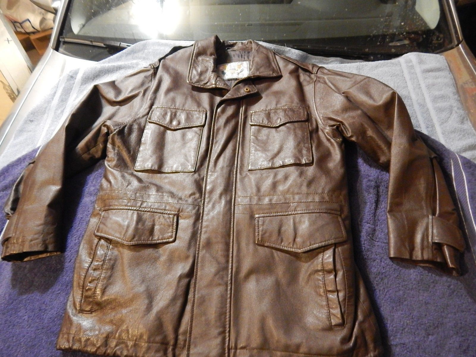 Men's Cooper Genuine Leather US Army Field Multi Pocket Brown Jacket Size M https://t.co/8ZJA3veNsR https://t.co/RsXsTXNj6o