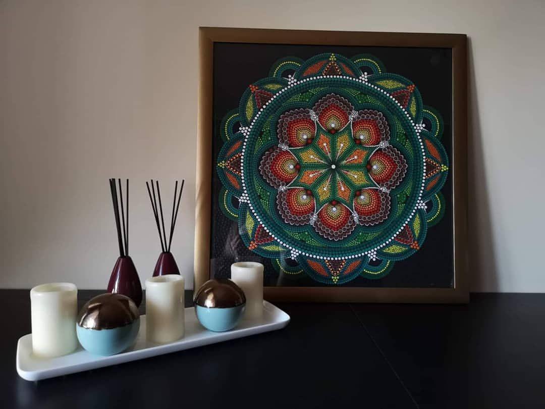 Pin Van Ana Are Soare Op Mandala Schilderijen Canvas Dotpainting Canvas