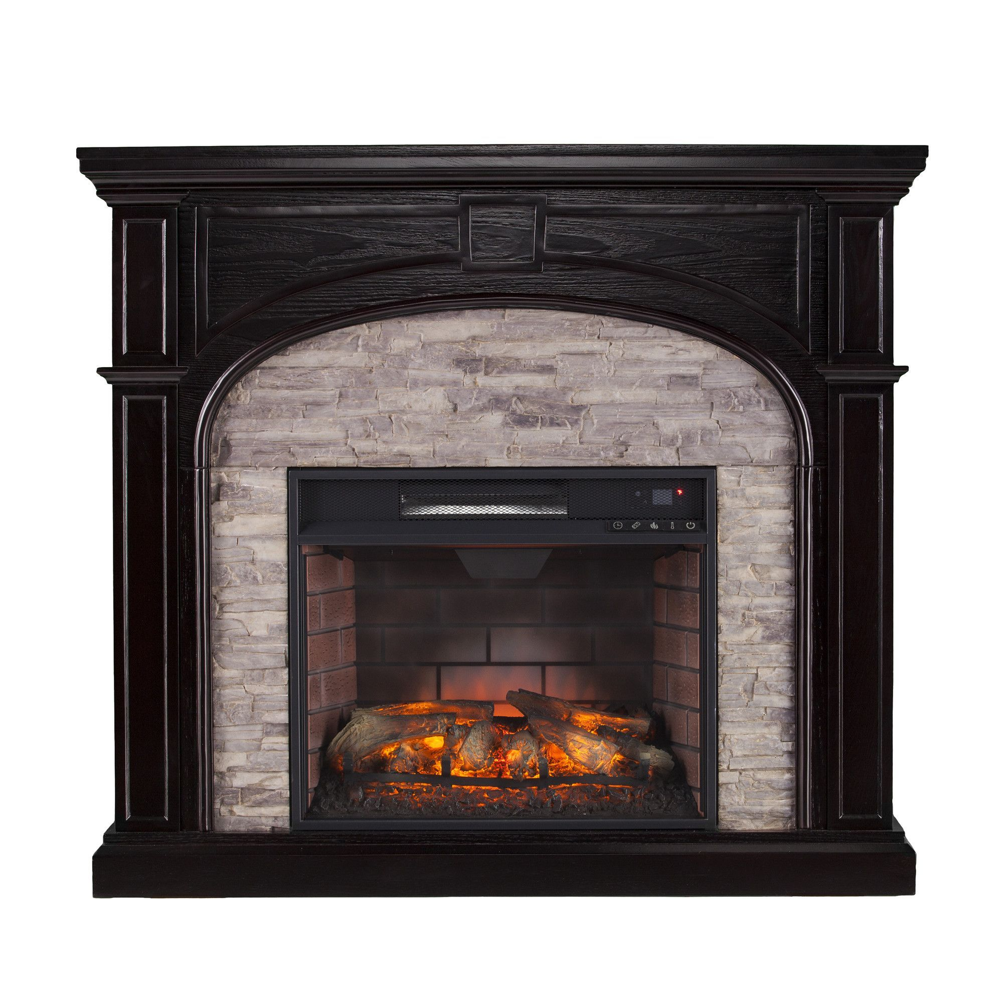 kingsman plus ventless inserts during mantle long using fireplace the keeps from winter table and room insert gas with faux delightful warm armoire living coffee stone