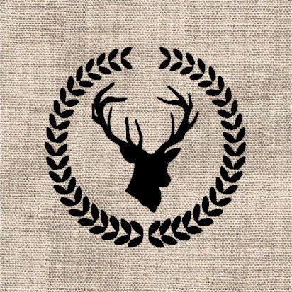 Deer head in Wreath Stencil by CutItOutStencil on Etsy ...